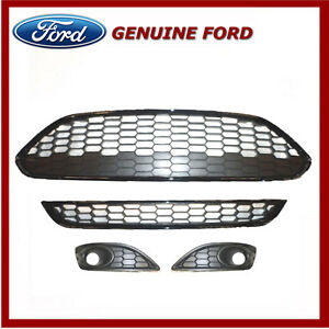 Genuine Ford Fiesta 2012 Onwards Zetec S / Sport Honeycomb Grille & Bezel Kit