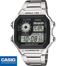 CASIO AE-1200WHD-1AVEF*AE-1200WHD-1A*ORIGINAL*ENVIO CERTIFICADO*WORLD TIME*METAL