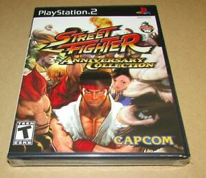 Street Fighter Anniversary Collection (PlayStation 2) Brand New / Fast Shipping