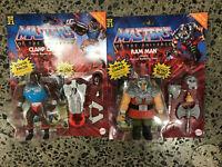 Mattel Masters of the Universe Origins Clamp Champ and Ram Man Deluxe HeMan MOTU