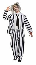 Adult Halloween Crazy Ghost Beetle Juice Fancy Dress Up Outfit Costume One Size