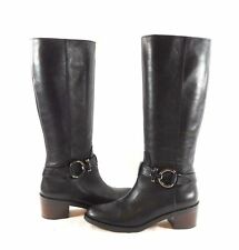 COACH Carolina black Leather Tall Shaft Riding BOOTS sz 10  NEW