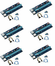 6-Pack V006C PCI-E 16x to 1x Powered Riser GPU Adapter 6 pin ETH Zcash mining