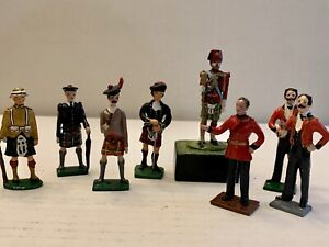 Lead Toy Soldier Figure MIXED ASSORTMENT. Lot Of 8