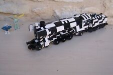 lego rare train emerald night 10194 with tender , modified .... black and white