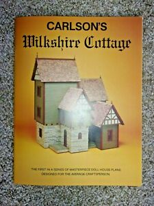 HOW TO  BOOK  - CARLSON'S WILKSHIRE COTTAGE  -  DOLL HOUSE MINIATURES