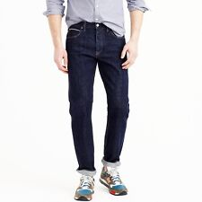J. Crew 1040 Japanese Selvedge Mens Slim Straight Jeans Dark Indigo NEW sz 32x32