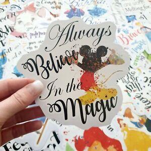 "Disney Mickey Quote ""Always believe in the magic"" Sticker laptop scrap book"