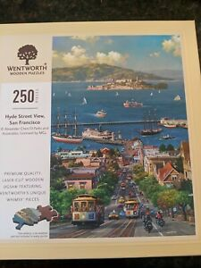 Wentworth Wooden Jigsaw Puzzle 250 Pieces- Hyde Street View, San Francisco