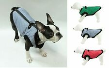 GOOBY FASHION BOMBER VEST Dog Jacket Harness - Top Zipper 4 Easy On/Off Step In