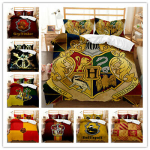 Harry Potter anime 3D Quilt Duvet Covers Pillowcase Single Double Bedding Set