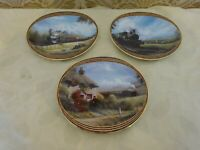 Set of 3 Davenport Collectors Plate Ltd Ed When the Train Went By...