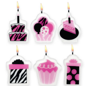 Another Year of Fabulous Mini Molded Cake Candles Birthday Cake Candles Supplies