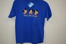 "NWT Disney Mickey Mouse ""Here Comes Trouble"" Blue T-Shirt Size Medium(6)"