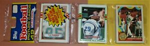 1989 Topps Rack Pack ERIC DICKERSON on front Indianapolis Colts + Cunningham NFL