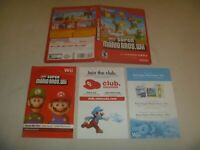 "(Case, Manual & Artwork Only) (NO GAME) Nintendo Wii ""New Super Mario Bros"""