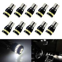 10X T10 501 194 W5W SMD 24 LED Car CANBUS Error Free Wedge Light Bulb White