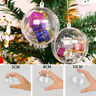 20×Clear Plastic Ball Sphere Fillable Christmas Tree Ornament DIY Craft Gift Box