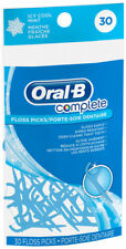Oral-B Complete Floss Picks ICY COOL MINT Flavor  Teeth-Cleaning Tooth Pick 30ct