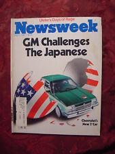 NEWSWEEK Magazine May 11 1981 General Motors J Car IRA Bobby Sands Tory Peterson