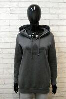 ADIDAS Donna 36 Felpa Maglione Grigio Cardigan Maglia Pullover Sweater Women