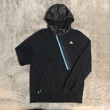Ropa Deportiva Adidas Negro/Azul Cuello Alto Pullover Con Capucha (M)