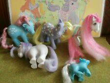My Little Pony Lot 6 Some Rare 🦄 kleines poney vintage G1 More ponies