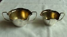 VINTAGE SILVER PLATED EPNS MILK JUG & SUGAR BOWL HENRY TATTON EDINBURGH