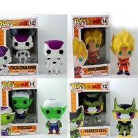 Funko POP Dragonball Z: Super Saiyan Goku Frieza Vinyl Figure Set Kids Toys Gift