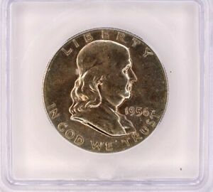 1956 FRANKLIN SILVER 50 CENTS ICG MS 65 LISTS FOR $50!! TERRIFIC TONING!!