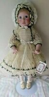 """SALE ! JANIS By Janis Berard - Kais. Stunning ALL Porcelain Doll. EXC.. VTG. 23"""""""