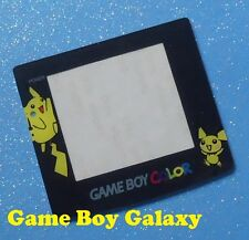 NEW Replacement SCREEN LENS COVER Nintendo Game Boy Color system POKEMON Pikachu