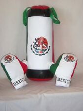 """Boxing / Punching Mexico Flag Bag Set with 4 oz. Gloves - 22"""" Long"""