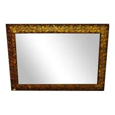 Vintage to Antique Gold Gilt Gesso Floral Filigree Framed Wall Mirror 48 x 34