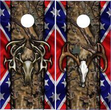 Flag Buck Skulls Cornhole Wrap Bag Toss Skin Decal Sticker Wraps