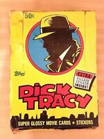 Dick Tracy Topps Movie Cards / Stickers 1990 Collectors Box Madonna & Beatty