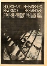 SIOUXSIE & Banshees The Staircase 1979 UK Poster size Press ADVERT 16x12 inches