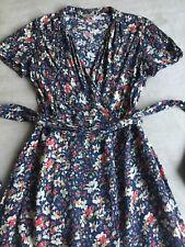 Jigsaw Blue Floral Mix Viscose Tea Dress Sz 10