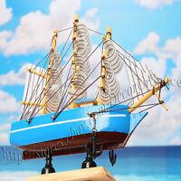 "6"" WOODEN SAILBOAT Vintage Sailboat Decoration Home Table decor Nautical decor 5"