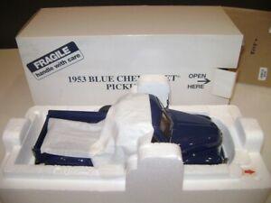 Danbury Mint 1953 53 Blue Chevrolet Chevy Pickup Truck 1/24 scale in box NIB r