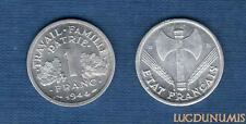 Etats Français, 1940 – 1944 – 1 Franc Etat Français 1944 B SUP ++++ Bazor