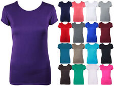 Unbranded Viscose Crew Neck Basic T-Shirts for Women
