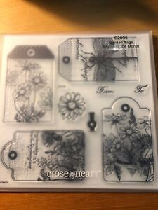 CTMH Close to My Heart Stamps S2006 Garden Tags SOTM NEW RETIRED