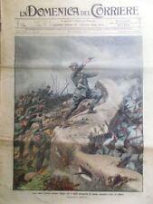 La Domenica del Corriere 17 Ottobre 1915 WW1 Raggi Medaglia Valore Salandra Roma