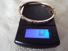 Antique Victorian 9ct Rose Gold Engraved Buckle Bangle Bracelet C1880