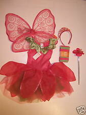 NWT Gymboree Pink Fairy Costume Wings Tights Tiara 7-8
