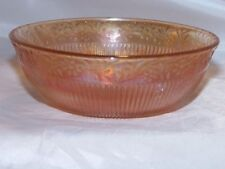 Vintage Marigold Carnival Glass Bowl, Prism & Daisy Band pattern by Imperial