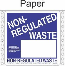 Non-Regulated Waste Paper Labels HWL260P (PACK OF 500)