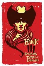 HANK 3 III WILLIAMS JR CONCERT POSTER FLASH TATTOO ART