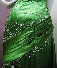 TRULY ALLURING! SPARKLING BEADED EMERALD FORMAL/EVENING/PROM LONG DRESS AU10/US8